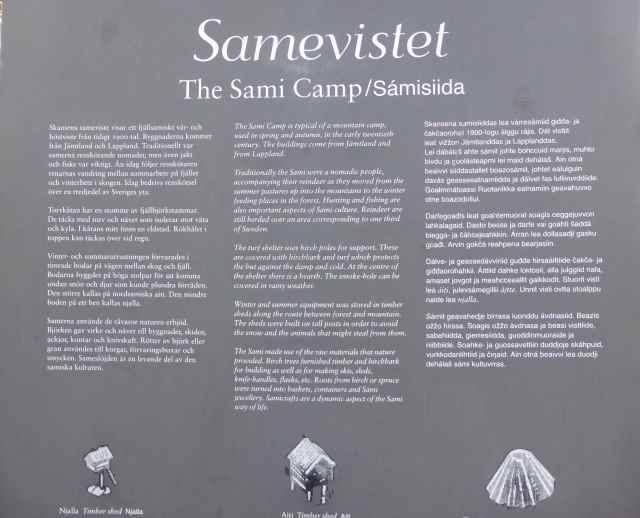 Sami camp sign