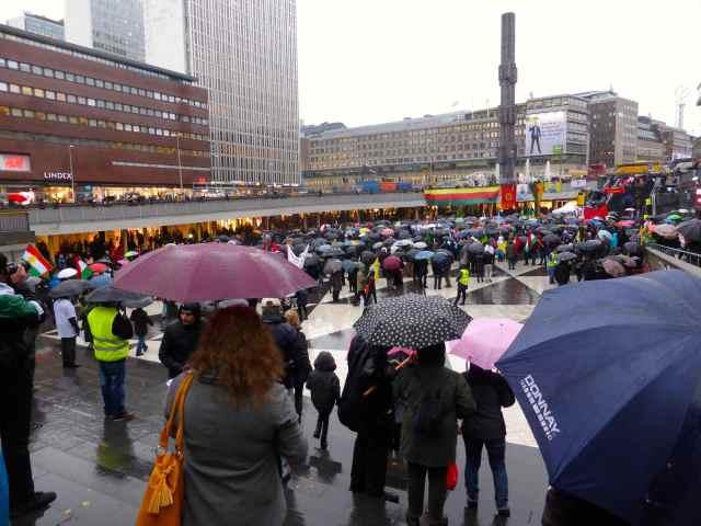 demo in Stockholm