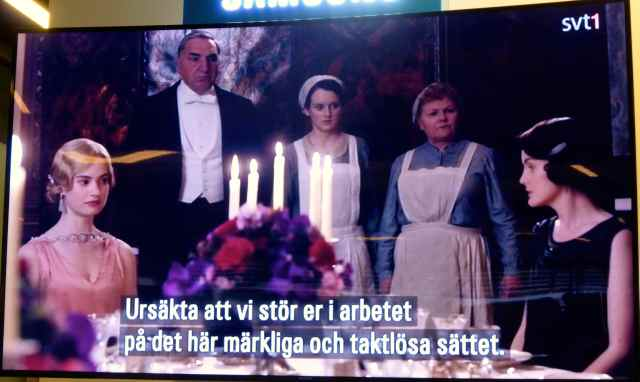 Downton in Swedish