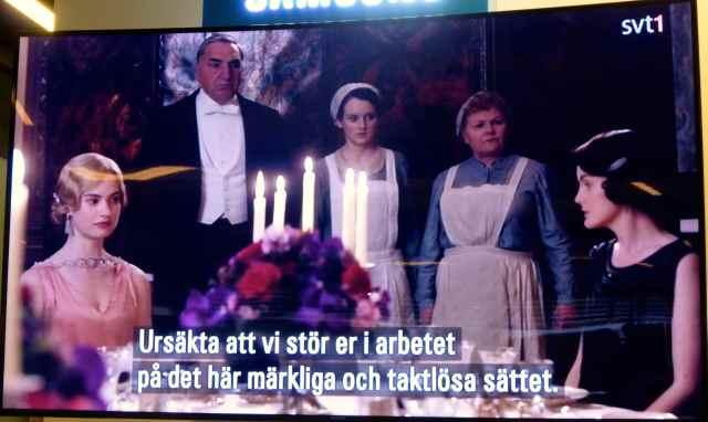 Downton in Swedish