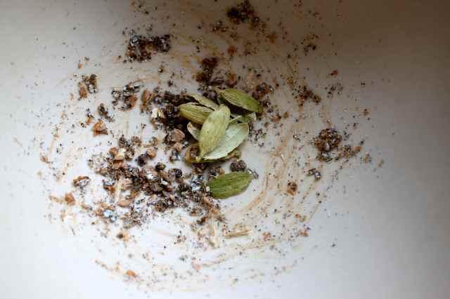 grinding cardamom