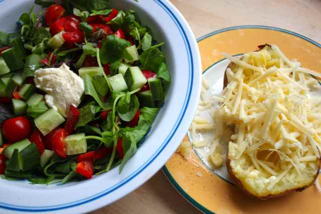 Jacket potato and salad