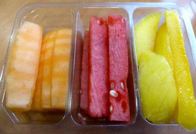melon, watermelon and mango