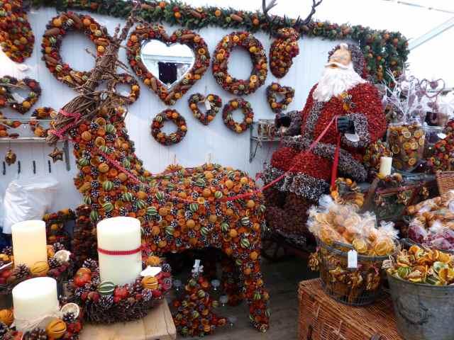 santa and reindeer dried fruit