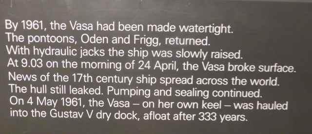 Vasa exhibit