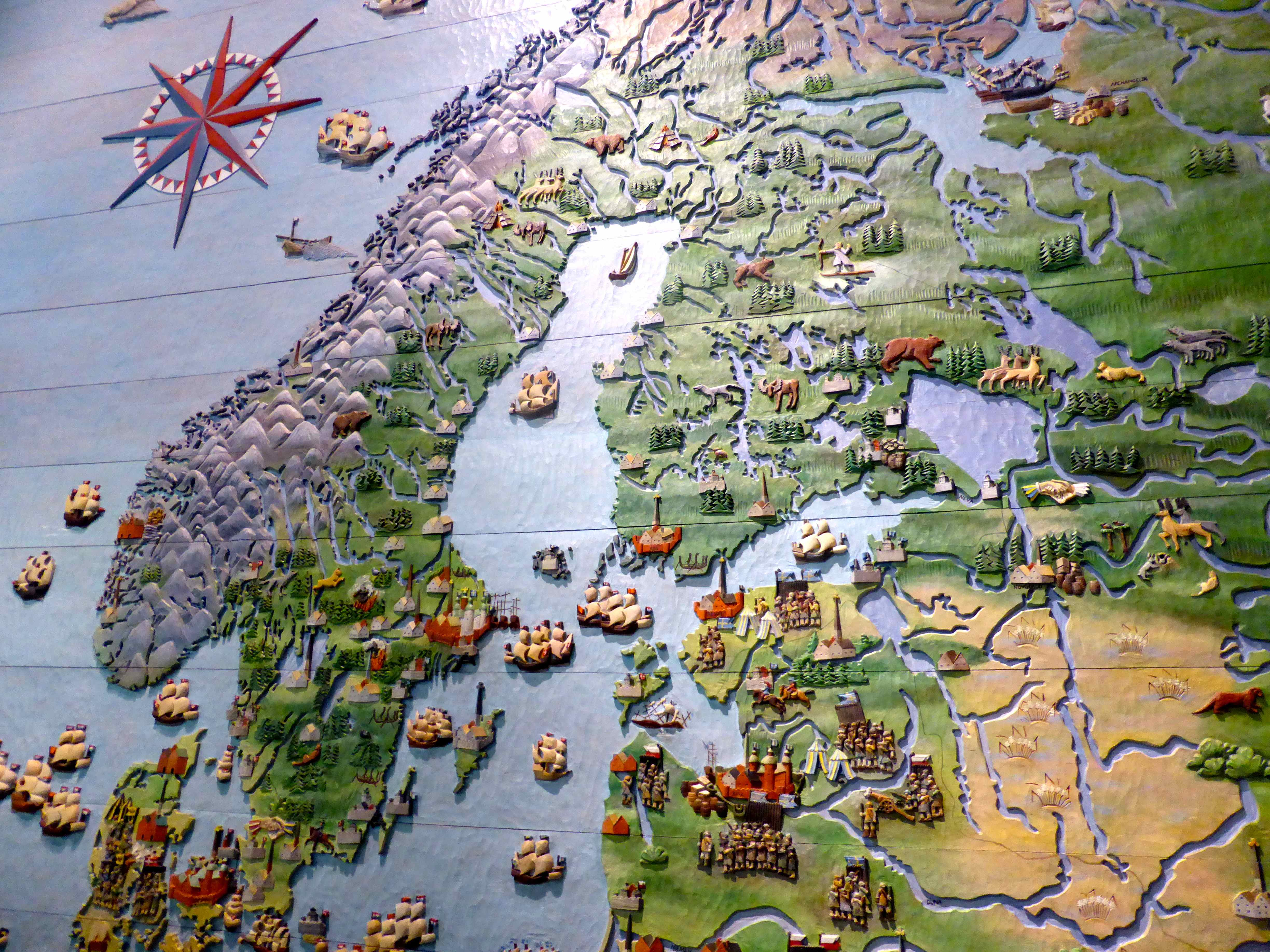 Stockholm Day A Sunk Ship And Two Drowned Rats Lose Weight - Sweden relief map
