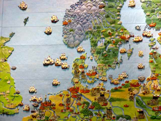wooden relief map of 30 years war