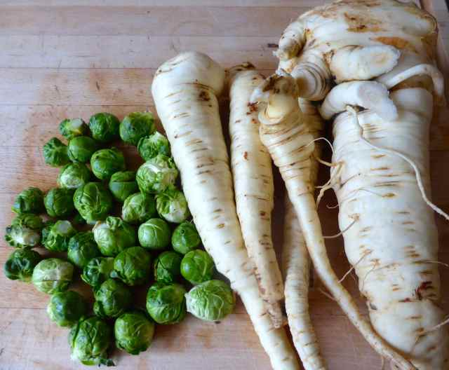 brussells and parsnips