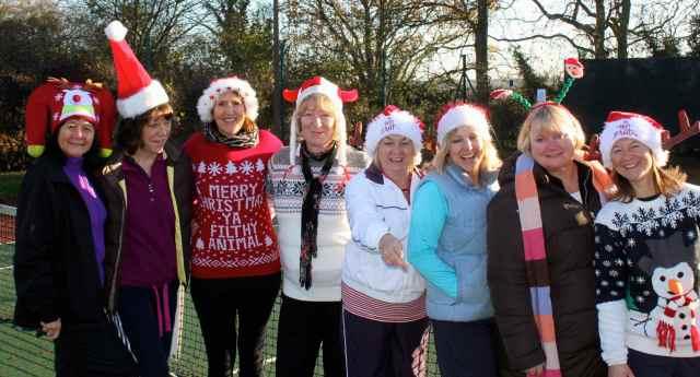 christmas hat tennis