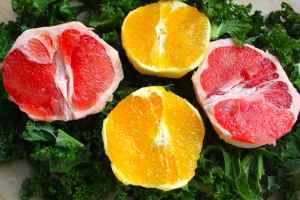 citrus and kale juice ingredients