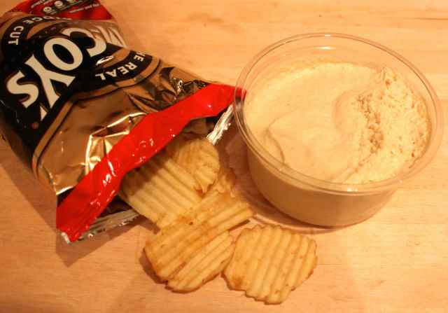 crisps and humous