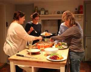 girl's Christmas dinner 13-12-14