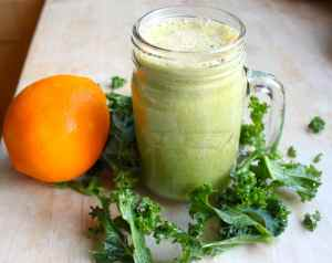kale and citrus juice