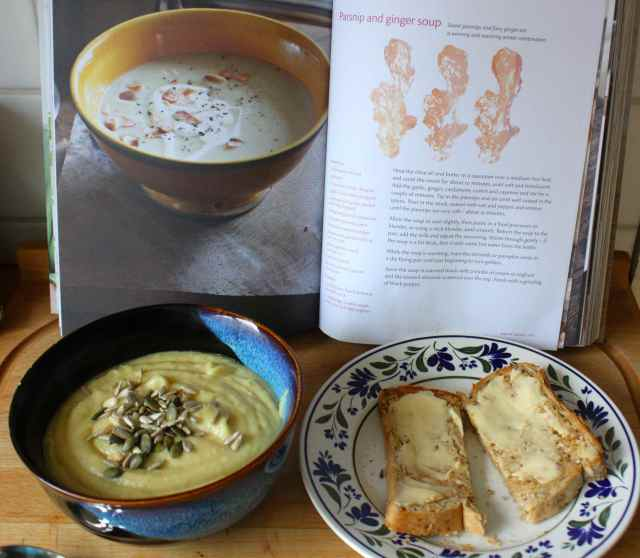 parsnip soup and toast