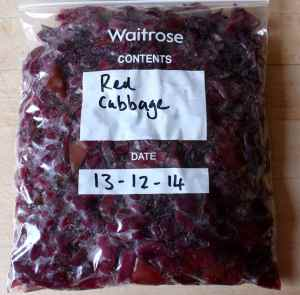 red cabbage for freezer