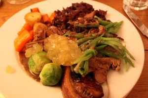 roast pork at Lucy's