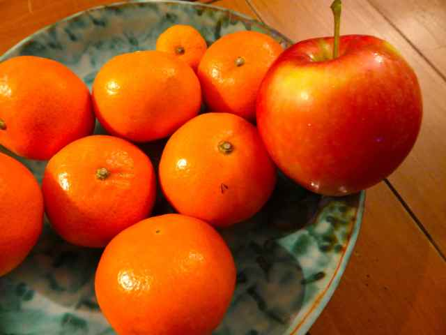 apple and tangerines