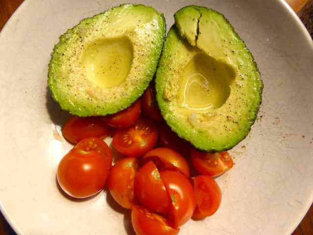 avocado, lime, tomatoes