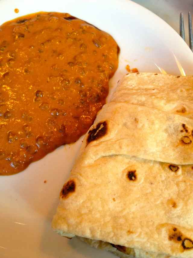 black dal and roti