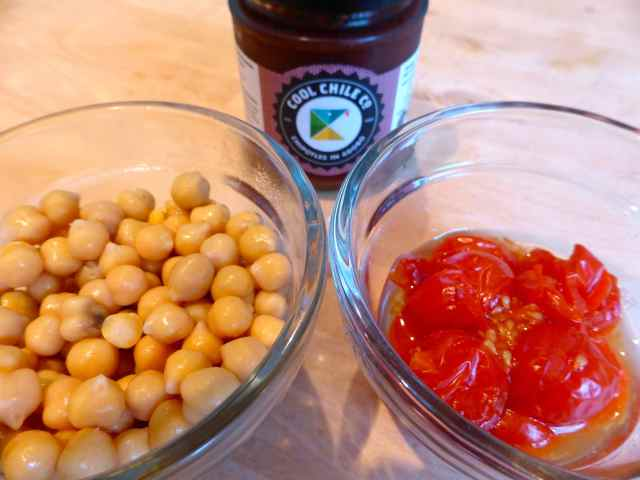 chick peas, tomatoes and chipotle