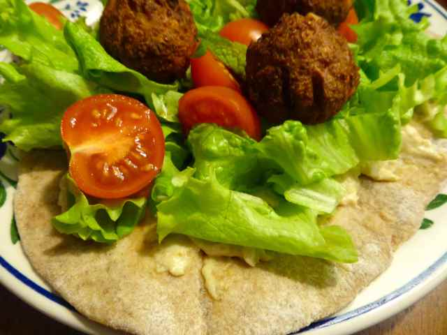 falafel and wrap