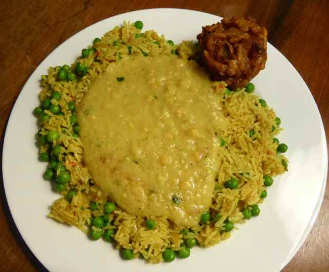 pea, rice and daal