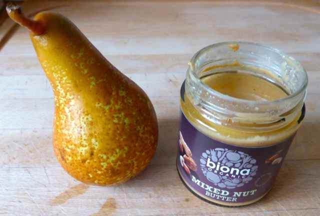 pear and nut butter