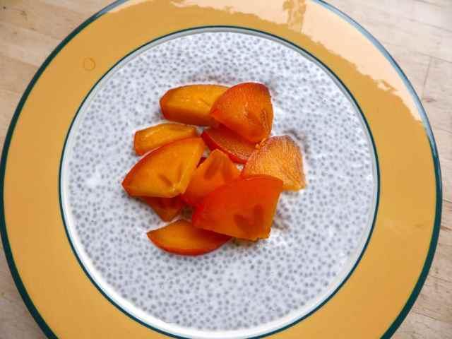 persimmon chia pudding 2