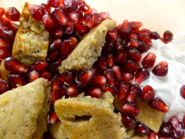 pomegranate and pancake
