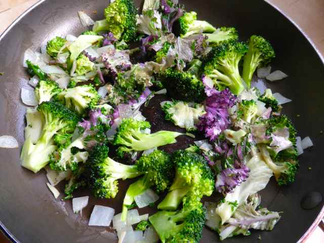 stir fried kale etc