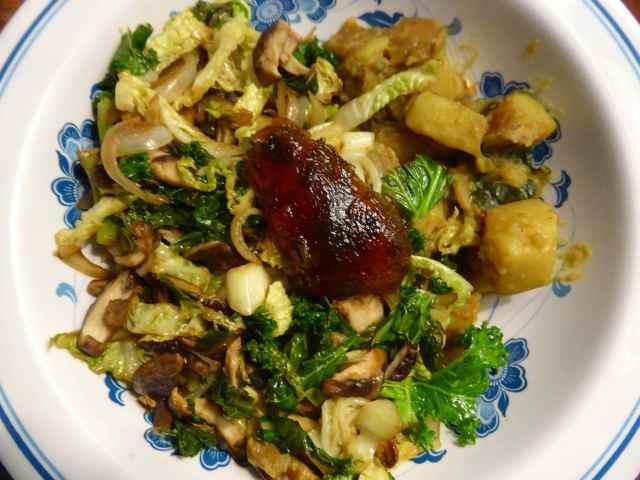 veg and potatoes