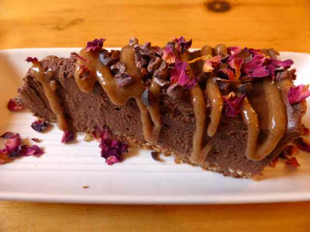 Wild Cafe choc tart