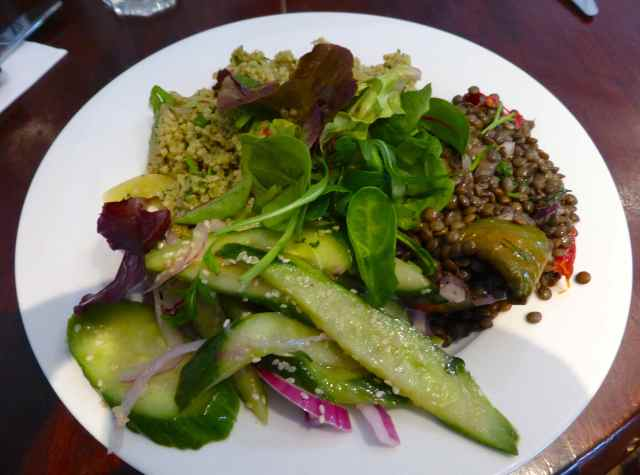 Basil salad trio