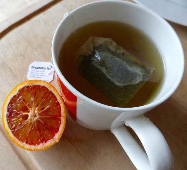 blood orange and green tea