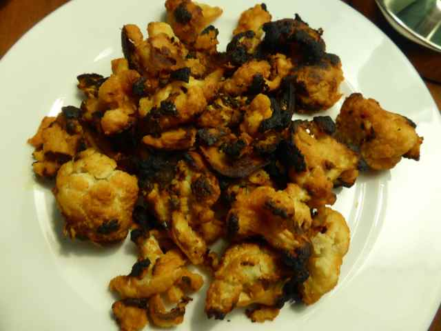 burnt cauliflower