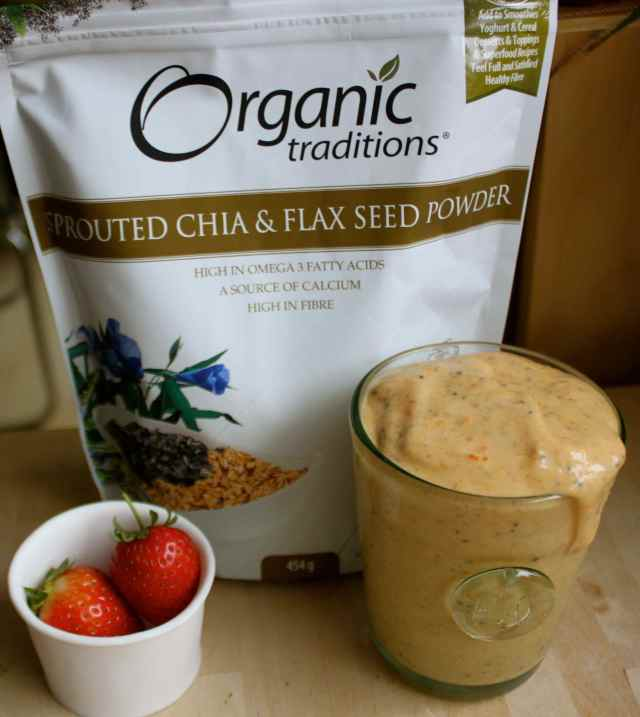 chia and flax seed powder