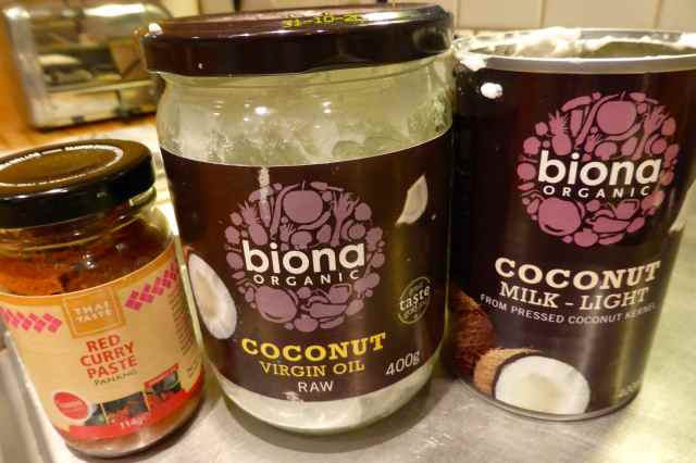 coconut and oil and paste