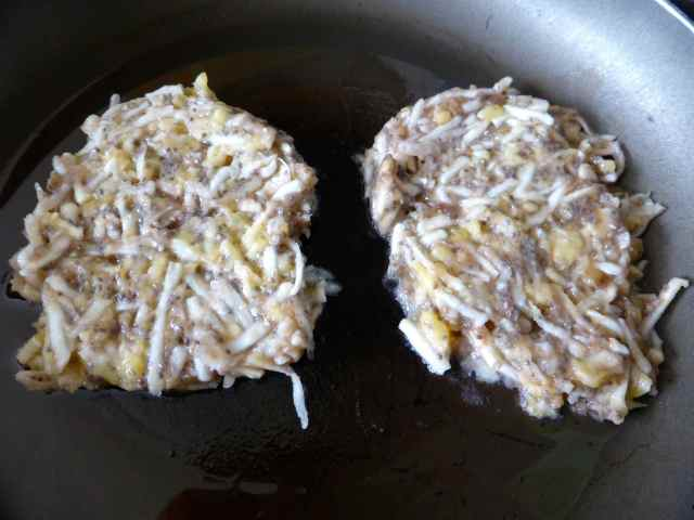 cooking banana celeriac rosti