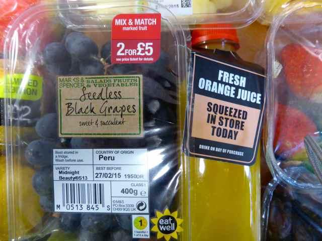 grapes and OJ