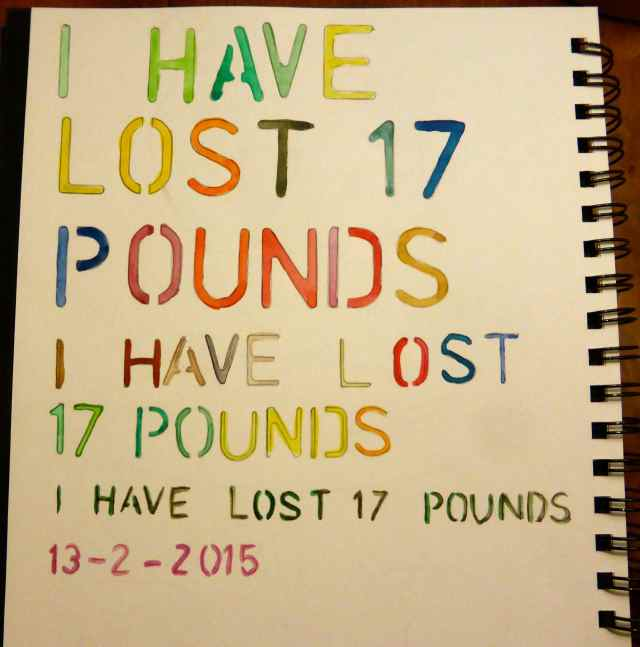 I have lost 17 pounds