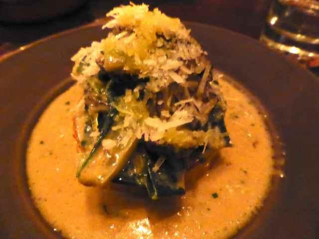 polenta and chard