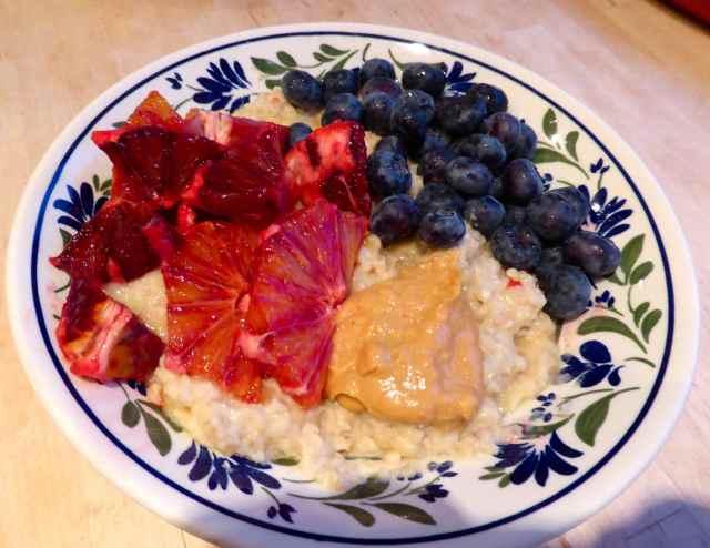 porridge fruit and nuts