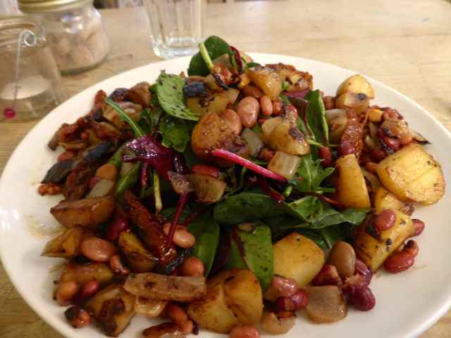 potato and bean salad