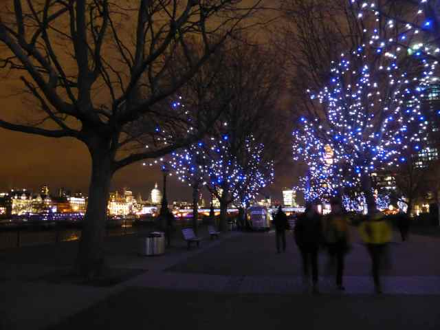 Southbank blue lights
