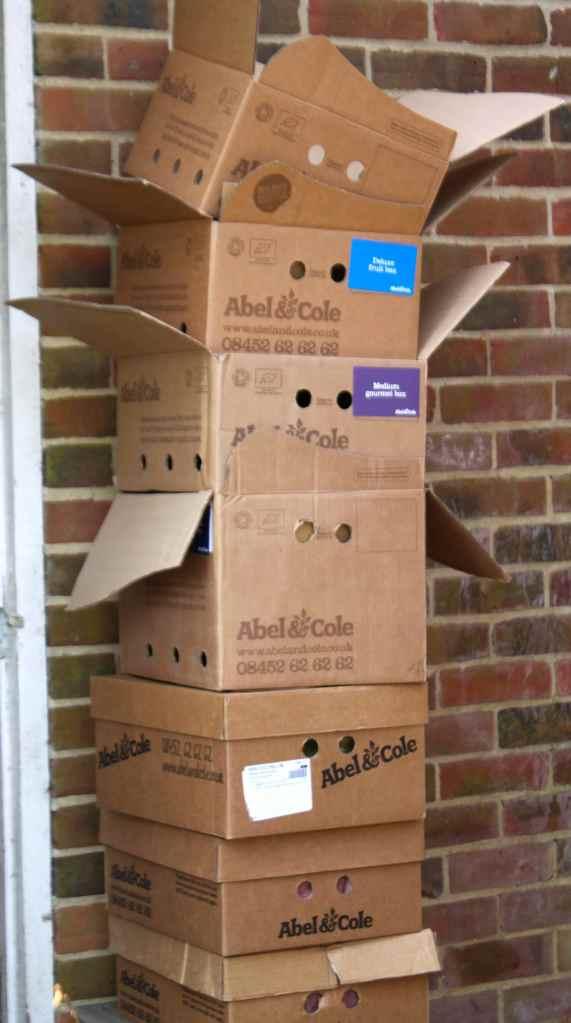 Abel & Cole boxes