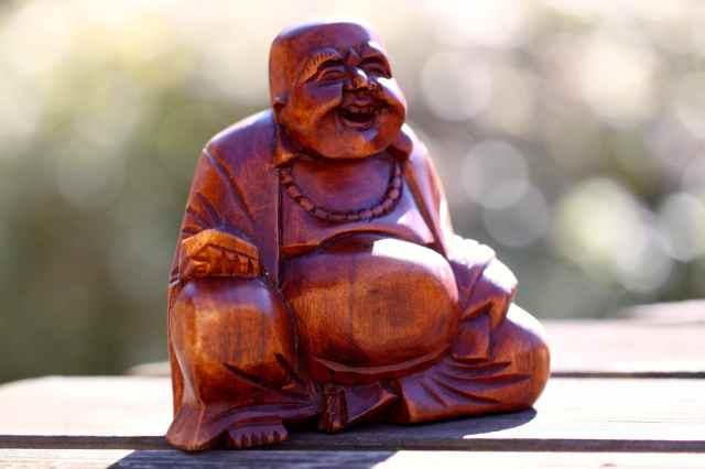 Buddha in sunshine bokeh