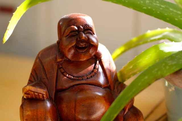 Buddha in sunshine