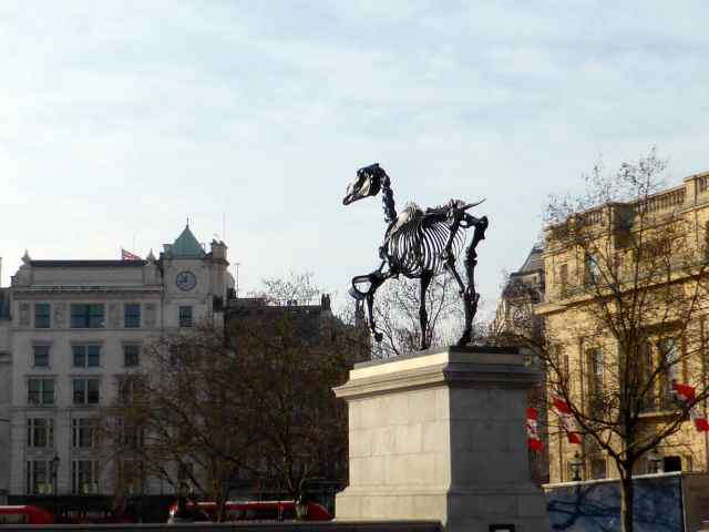 dinosaur on 4th plinth