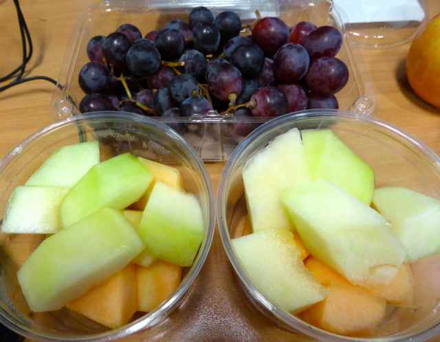 melon and grapes