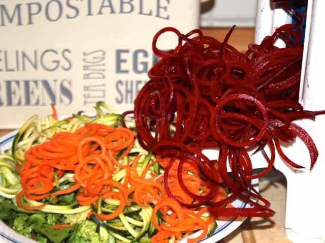 noodled veggies